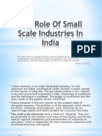 The role of  small scale industries in india