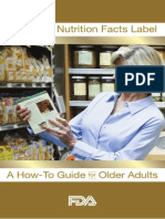 using the nutrition facts label senior guide