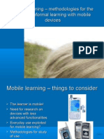 Mobile Learning – Methodologies for the Study of Informal Learning