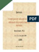 Investigacion educativa - marta anadon