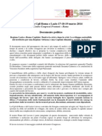 Documento politico V°  Congresso CGIL 17-19 marzo 2014