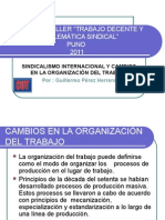 Sindicalismo y Cambios en La Organizacion Del Trabajo