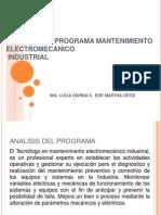 Analisis Del Programa Mantenimiento Electromecanico