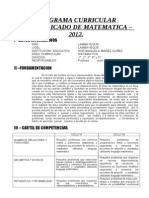 89086870 Programa Curricular 2012 MATEMATICA