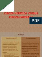 ciroza hepatică vs ciroza cardiaca