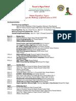 2014 Panaad Festival Schedule of Activities