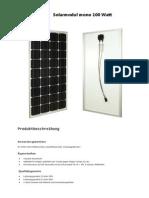 Solarmodul Mono 100 Watt