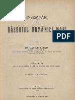 Însemnări din răsboiul României Mari. Volumul 2