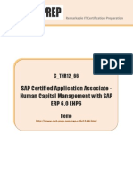 SAP C THR12 66 Certification Preparation SAP Certified Application Associate Human Capital Management With SAP ERP 6 0 EHP6