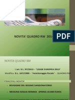 Novita' Quadro Rw 2014 Studio Ogna