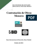 Documentación Estándar de Licitación Pública Internacional (ICB) Para México Contratación Obras Menores.pdf