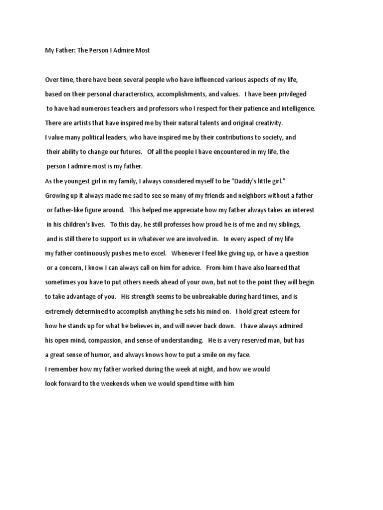Essay on fatherhood