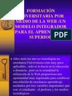 FORMACIÓN UNIVERSITARIA POR MEDIO DE LA WEB