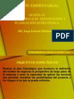 Sesion 10 Plan de Negocio Definiciones Estrategicas
