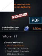 Owasp Christianmartorella Information gathering via OSINT