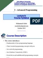 Advanced Programming CH0