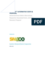 SMECO Advanced Smart Meter Alternatives, Respective Associated Costs, and Cost Recovery Proposal