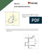 Guía Nº2  Mecanica Estatica otoño 2013