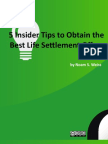 5 Insider Tips to Obtain the Best Life Settlement Offers