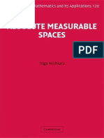 Absolute Measurable Spaces (Encyclopedia of Mathematics and Its Applications)