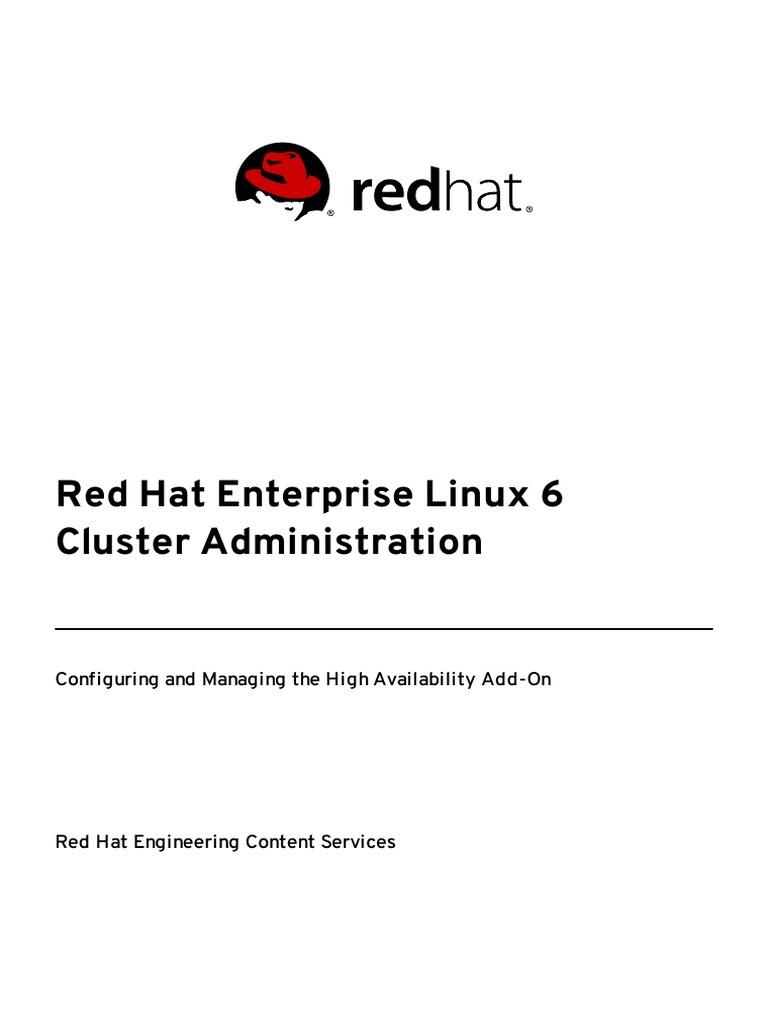 Red hat enterprise linux 6 cluster administration en us computer cluster port computer networking