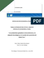 INTA Los productores ganaderos ovino-extensivos y la adopción tecnológica en el sureste de la provincia de Santa Cruz