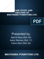 A Case Study and Analysis of Brothers Furniture Ltd.
