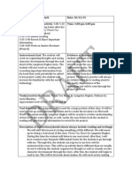 Literacy & Assessment 2 Lesson Plan