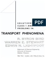 Solutions to the Class 1 and 2 Problems in Transport Phenomena