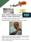 Morre Antônio Olímpio um grande ícone da política e cultura queimadense