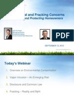 Environmental and Fracking - NAR - Sept 2013
