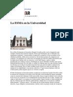 Horacio Gonzales La ESMA en La Universidad