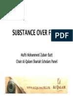 Substance Over Form Revised