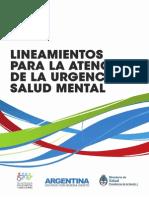 2013 10 Lineamientos Atencion Urgencia Salud Mental