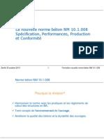 Formation Nouvelle Norme Béton NM10-1-008