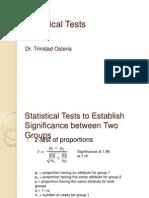 8 Statistical Tests
