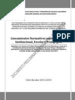 Lineamientos ISEP 2013 2014 en Revision Del Area Juridica