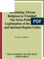 [Frances Henry] Reclaiming African Religions in Tr(BookZa.org)