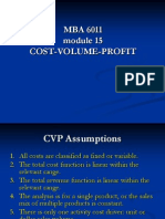 MBA 6011 CVP Highlights for Oct 23 2013