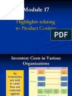 MBA 6011 Product Costing Highlights Mod 17