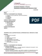 Estructura Plan de Tesis - Usmp
