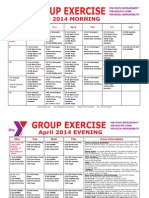 APRIL 2014 Group Exercise Calendar