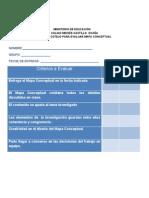 lista de cotejo para evaluar informe escrito