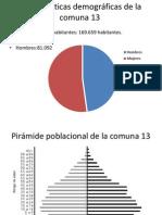Características demográficas de la comuna 13