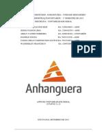 ATPS ETAPA 1 E 2 - CONTABILIDADE INTERMEDIÁRIA