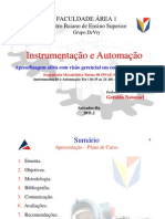 01- Instrumentação e Automação + Estudo Dirigido I