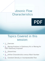 Subsonic Flow Characteristics