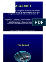 ACCOAST Comparación entre dosis de pretratamiento y tratamiento de Prasugrel en IMSEST sometido a PCI PPT