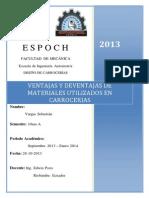 Ventajas y Deventajas de Materiales Utilizados en Carrocerias