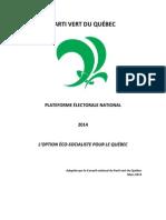 PLATEFORME ÉLECTORALE NATIONAL